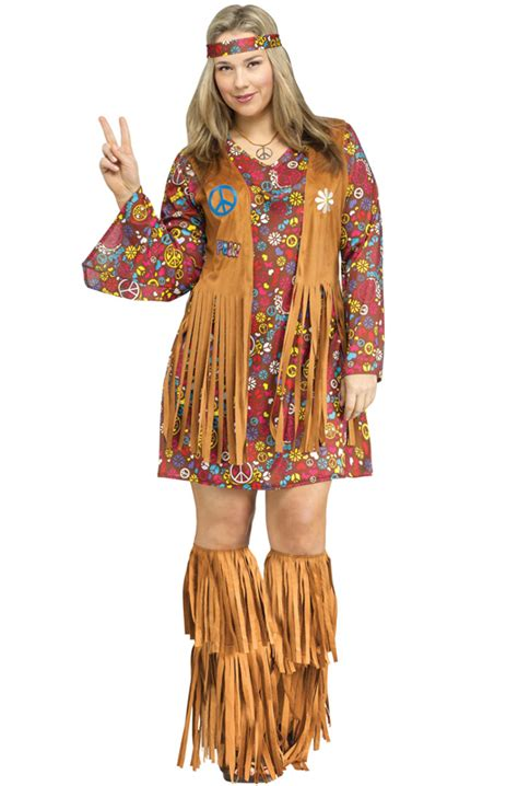 Peace and Love Hippie Plus Size Costume - PureCostumes